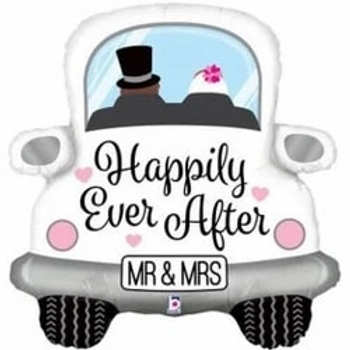 """Happily Ever After Car Supershape 31"""" Foil Balloon"""