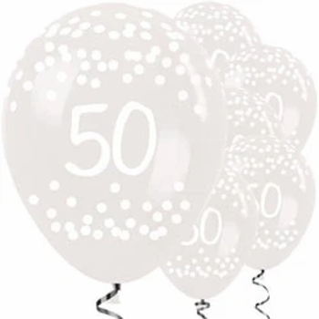 Clear Dots Latex Party Balloons
