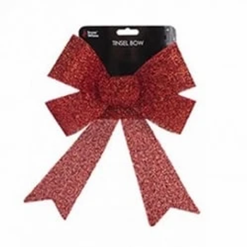 Red Tinsel Bow