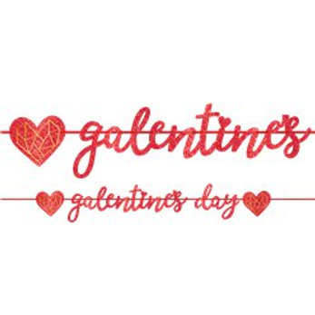 Galentines Day Foil Banner