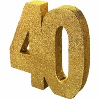 40th Table Centrepiece Gold