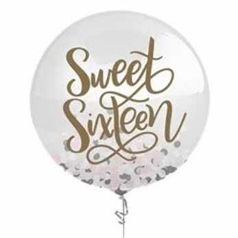 Sweet Sixteen Confetti Balloon