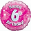 "Happy 6th Birthday 18"" Foil Balloon Pink"