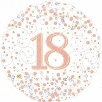 Happy 18th Birthday Rose Gold Foil Balloon