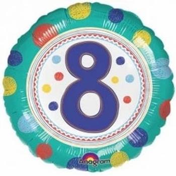 "Spot On 8th Birthday 18"" Foil Balloon"