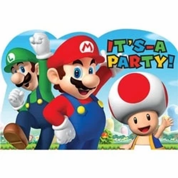 Super Mario Party Invitations