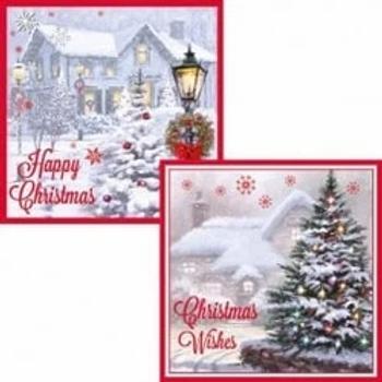 Christmas Cottage Snowscene Cards