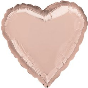 Rose Gold Heart Foil Balloon