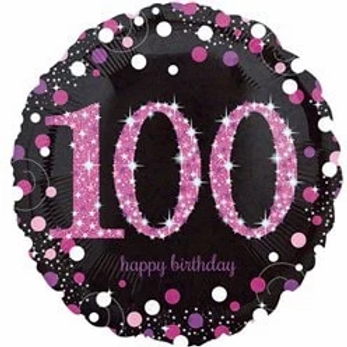 1100th Birthday Party Foil Balloon Pink