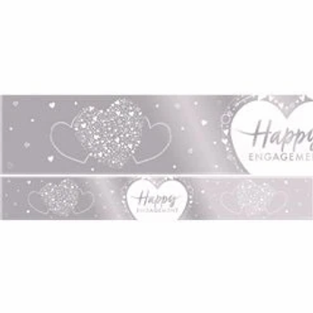 Happy Engagement Foil Banner