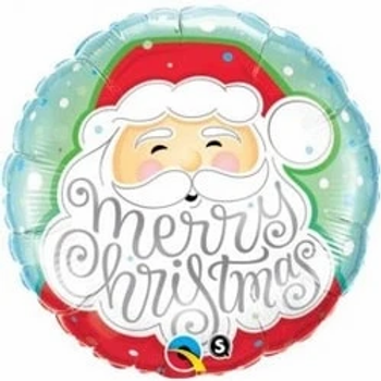 """Father Christmas Round Shape 18"""" Foil Balloon"""