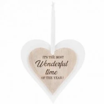 Its The Most Wonderful Time Heart Plaque