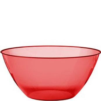 Red Large Serving Bowl