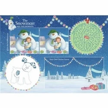 Christmas Activity Placemats With Stickers