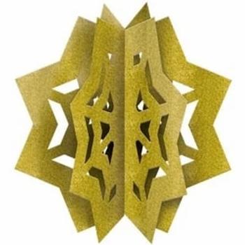 Eid 3D Glitter Star Decoration
