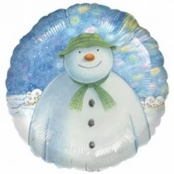 "The Snowman Round Shape 18"" Foil Balloon"