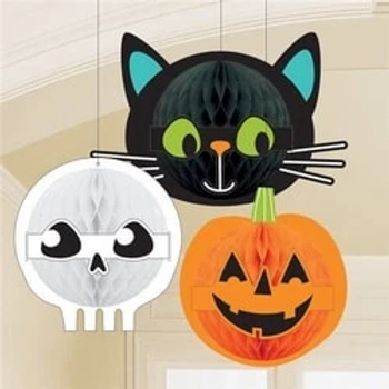 Halloween Friends Honeycomb Decorations