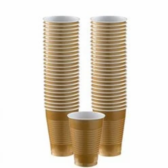 Gold Party Cups 355ml