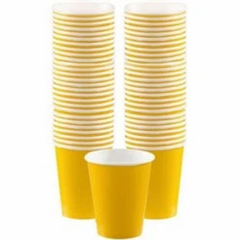Coffee Party Cups Size 340ml Yellow