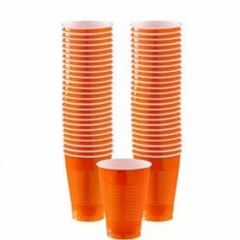 Orange Party Cups 355ml