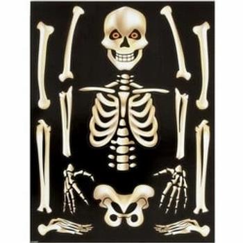Skeleton Window Clings Sheet