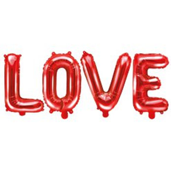 Red Love Foil Balloon