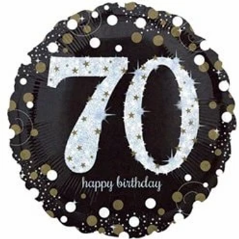 70th Birthday Gold Foil Party Balloon
