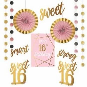 16th Birthday Room Decorating Kit