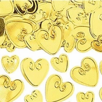 Gold Loving Hearts Table Confetti