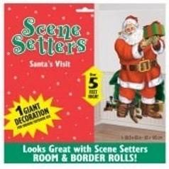 Santa's Visit Scene Setter Decorations