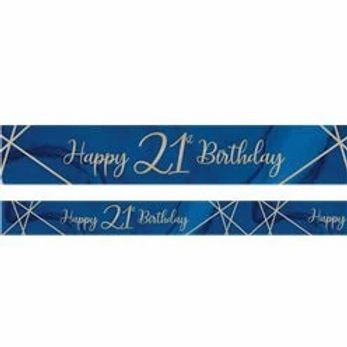21st Birthday Navy And Gold Birthday Banner