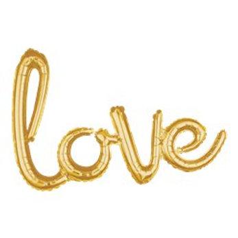 Gold Love Phrase Balloon