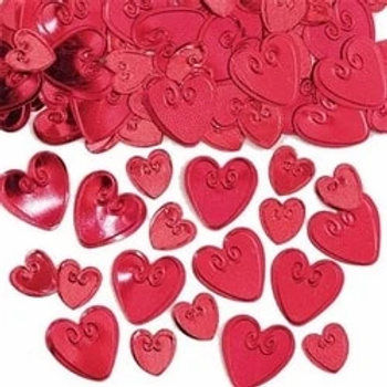 Ruby Loving Hearts Table Confetti