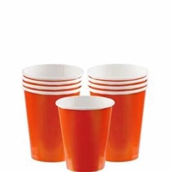 Orange Party Cups 266ml