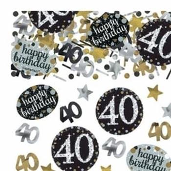 40th Birthday Sparkling Celebration Table Confetti