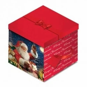 Santa Christmas Square Gift Box