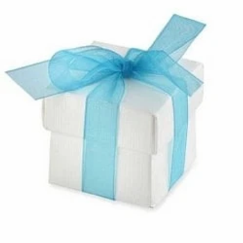 White Party Favour Box With Lid