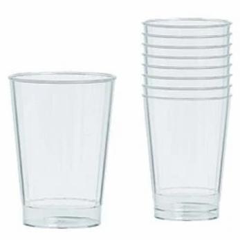 Clear Plastic Tumbler Glasses