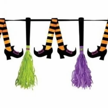 Witches Crew Paper Tassel Pennant Banner
