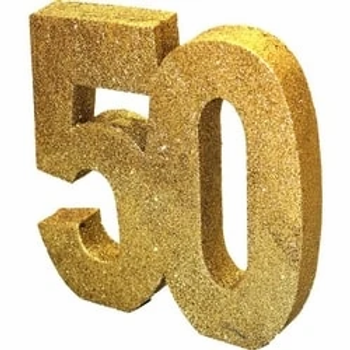 50th Table Centrepiece Gold