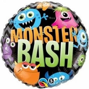 """Halloween Monster Bash Chevron Foil Balloons 18"""""""