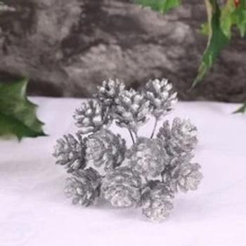 Silver Glitter Cone Bunch