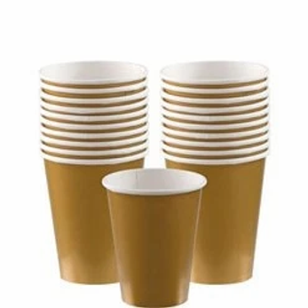 Gold Party Cups 266ml