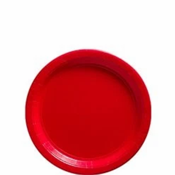 Party Paper Plates Size 23cm Red