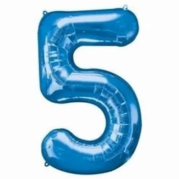 "16"" Foil Number 5 Balloon Blue"