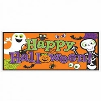 Happy Halloween Large Foil Banner