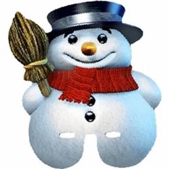 Snowman Face Mask