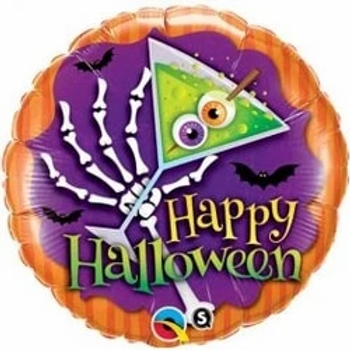 """Halloween Scary Drink Foil Balloons 18"""""""