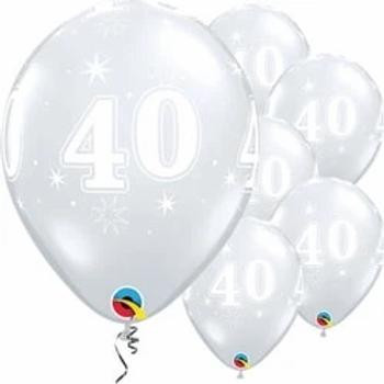 40th Diamond Clear Balloons