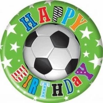 Happy Birthday Football Jumbo Badge